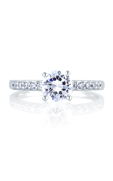 A.Jaffe Shared Prong French Pave Engagement Ring ME1401-17 product image