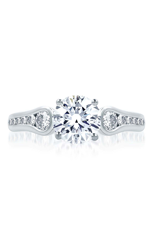 A.Jaffe Fancy Side Stone Engagement Ring MES668-50 product image