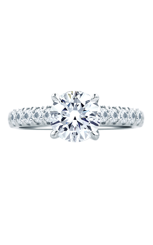 A.Jaffe Fancy Side Stone Engagement Ring MES667B-48 product image
