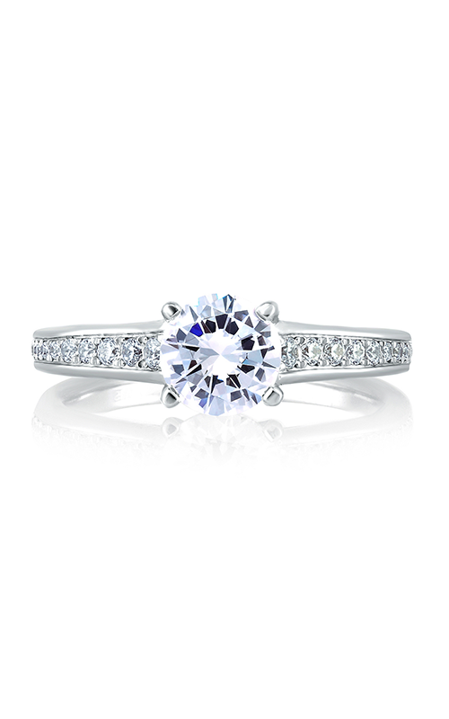 A.Jaffe Fancy Side Stone Engagement Ring MES336-98 product image