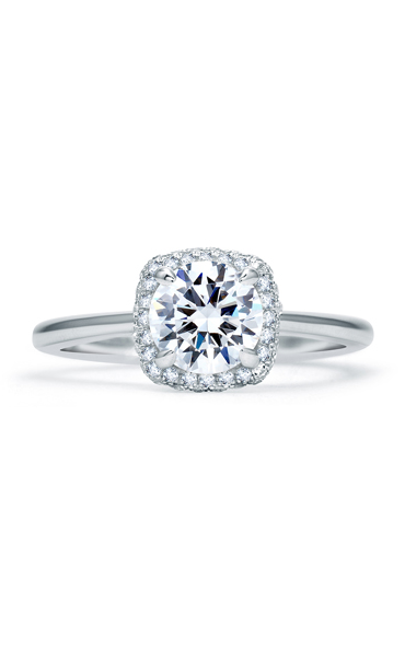 A. Jaffe Quilted Collection - Platinum 0.23ctw Diamond Engagement Ring, ME1844Q-123 product image
