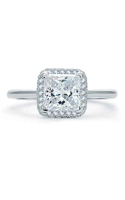 A. Jaffe Quilted Collection - Platinum 0.25ctw Diamond Engagement Ring, ME1845Q-125 product image