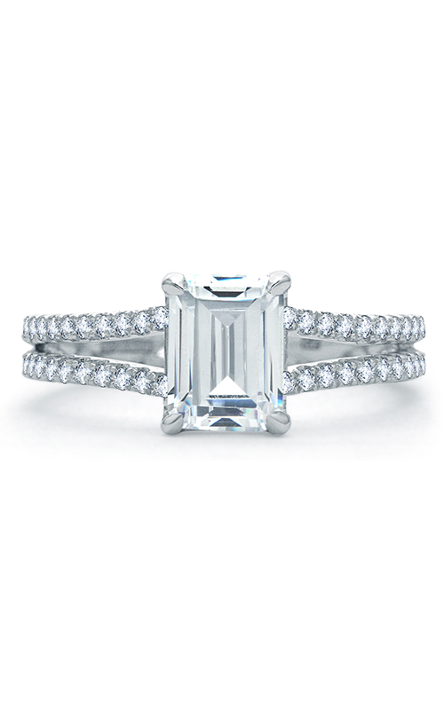 A. Jaffe Quilted Collection - Platinum 0.38ctw Diamond Engagement Ring, ME1863Q-138 product image