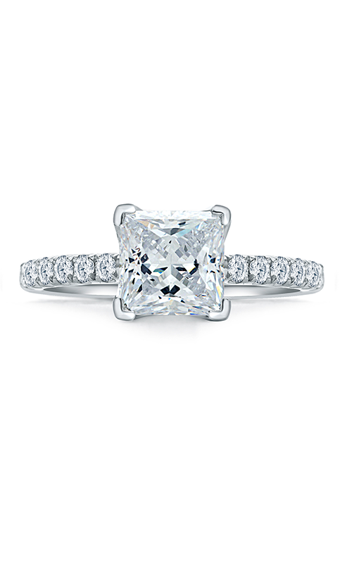 A.Jaffe Fancy Side Stone Engagement Ring ME1852Q-198 product image