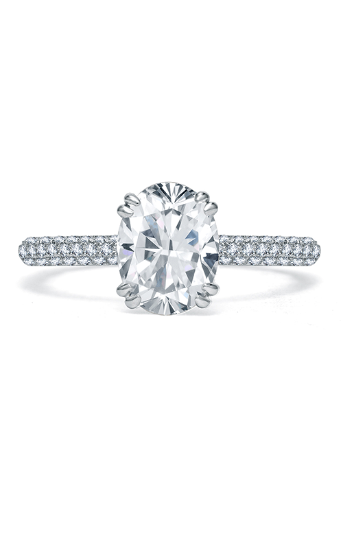 A.Jaffe Fancy Side Stone Engagement Ring ME1842Q-195 product image