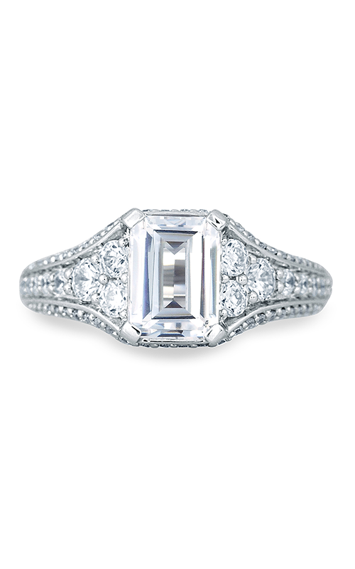A.Jaffe Fancy Side Stone Engagement Ring MES693-272 product image