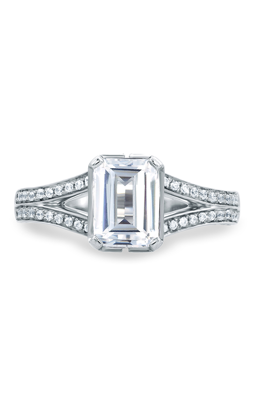 A.Jaffe Fancy Side Stone Engagement Ring MES681-222 product image