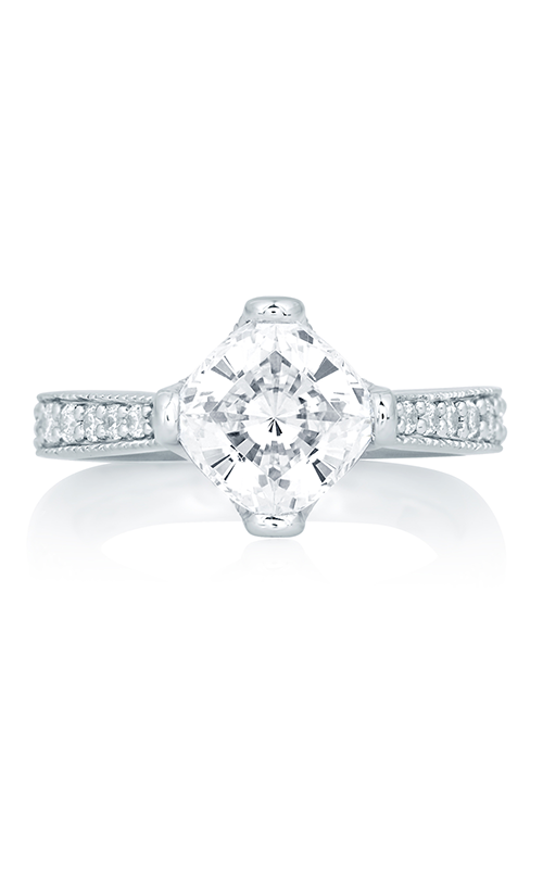 A.Jaffe Fancy Side Stone Engagement Ring MES644-230 product image