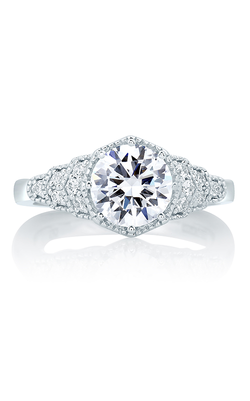 A.Jaffe Fancy Side Stone Engagement Ring MES642-164 product image