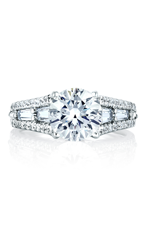 A.Jaffe Fancy Side Stone Engagement Ring MES154-122A product image
