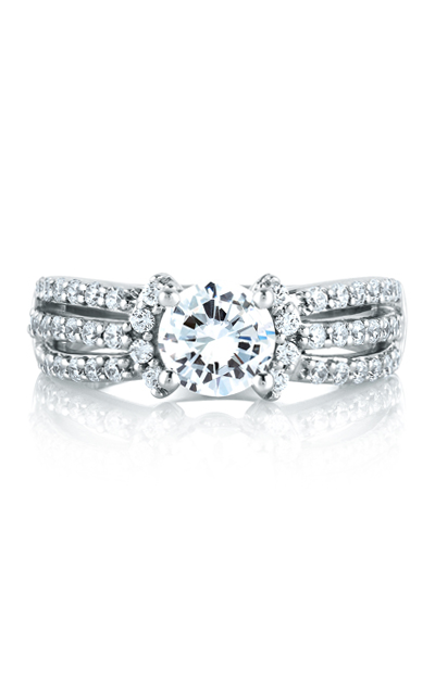 A.Jaffe Fancy Side Stone Engagement Ring ME1288-58 product image