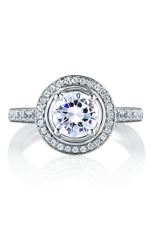 A.Jaffe Halo Engagement Ring MES588-207 product image