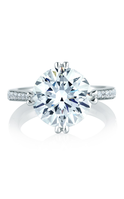A.Jaffe Fancy Side Stone Engagement Ring MES421-130 product image