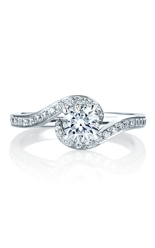 A.Jaffe Fancy Side Stone Engagement Ring ME1557-77 product image