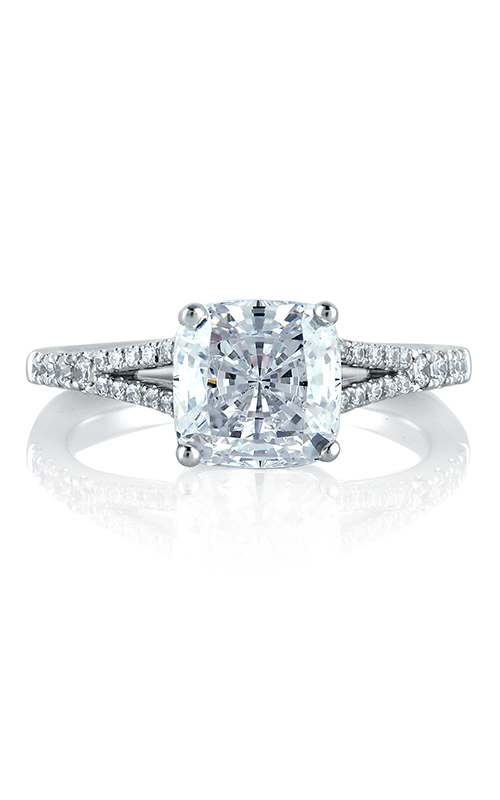 A.Jaffe Fancy Side Stone Engagement Ring MES578-95 product image