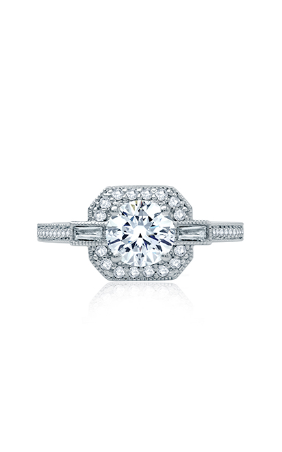 A.Jaffe Art Deco Engagement Ring ME2107Q-128 product image