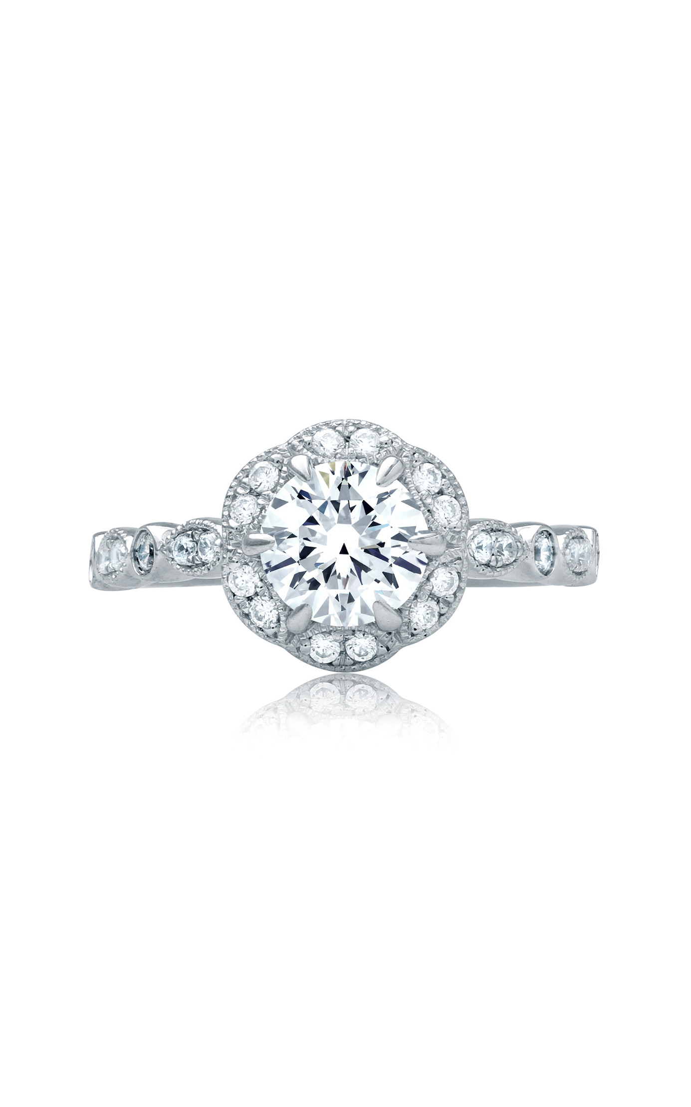 A.Jaffe Art Deco Engagement Ring MES828 product image