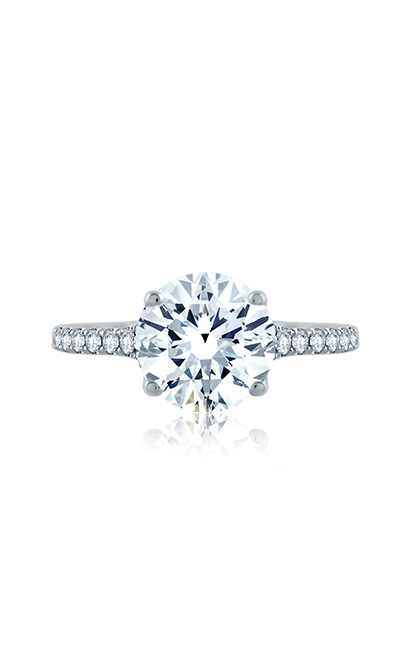 A.Jaffe Crossover Diamond Shank Engagement Ring ME2036Q product image