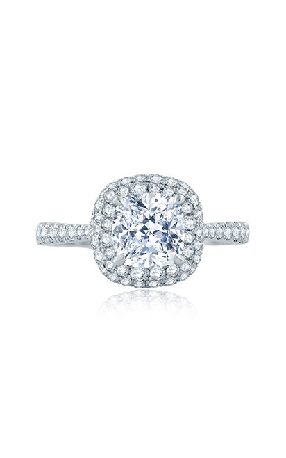 A.Jaffe Scattered Diamond Cushion Halo Engagement Ring ME2166Q product image
