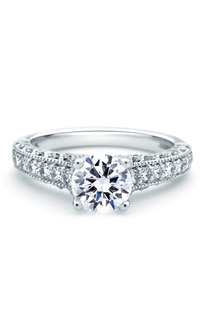 A.Jaffe Art Deco Engagement Ring ME1664-137 product image