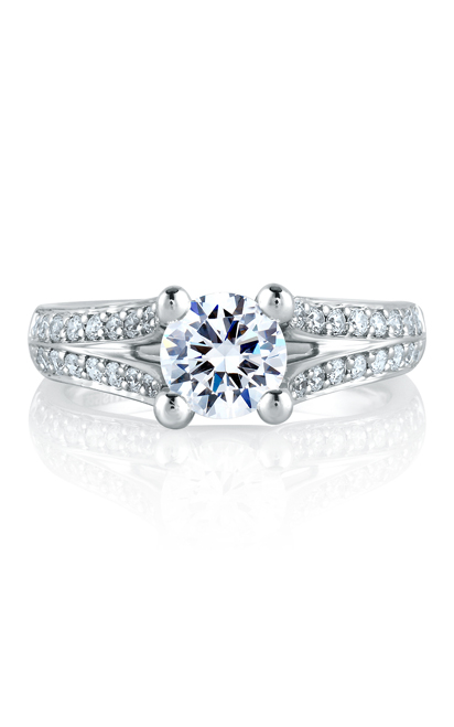 A.Jaffe Shared Prong French Pave Engagement Ring MES017-151 product image