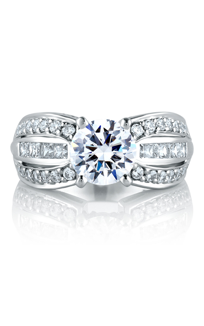 A.Jaffe Large Center Engagement Ring MES045-88 product image