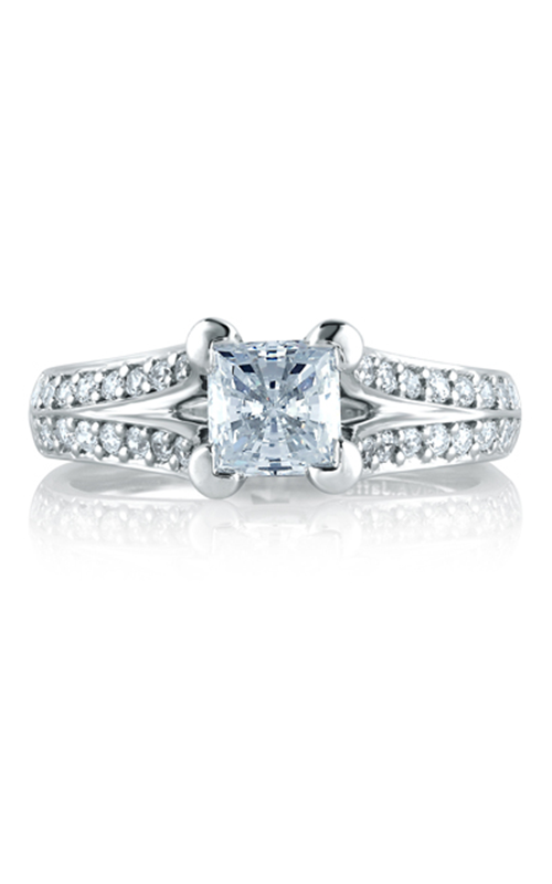 A.Jaffe Shared Prong French Pave Engagement Ring MES068-150 product image