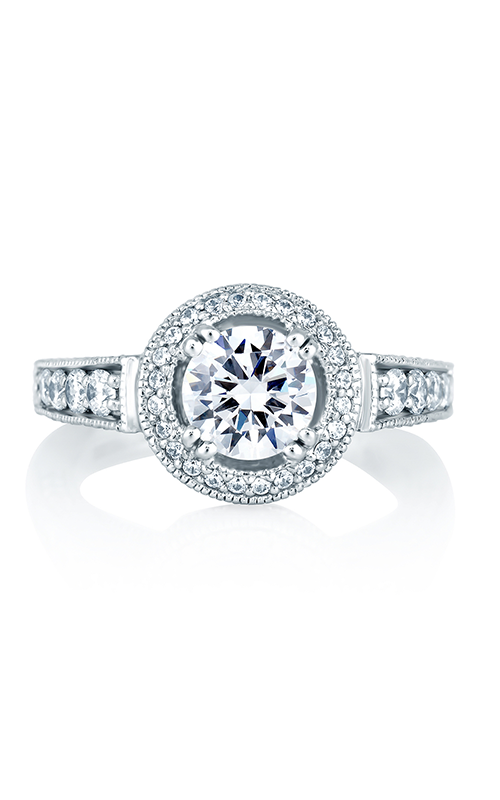 A.Jaffe Halo Engagement Ring MES151-193 product image