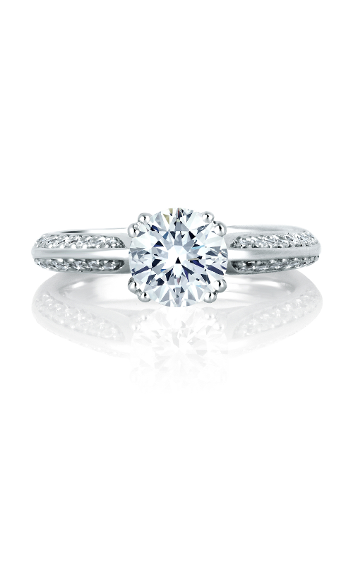 A.Jaffe Shared Prong French Pave Engagement Ring MES200-48 product image
