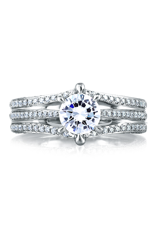 A.Jaffe Fancy Side Stone Engagement Ring MES414-143 product image