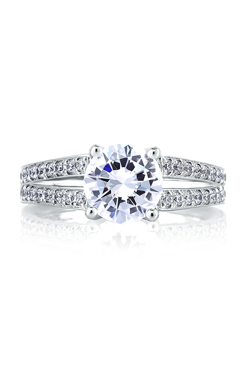 A.Jaffe Fancy Side Stone Engagement Ring MES452 product image