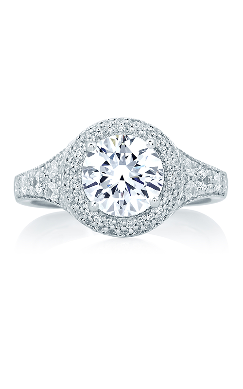 A.Jaffe Halo Engagement Ring MES640-214 product image