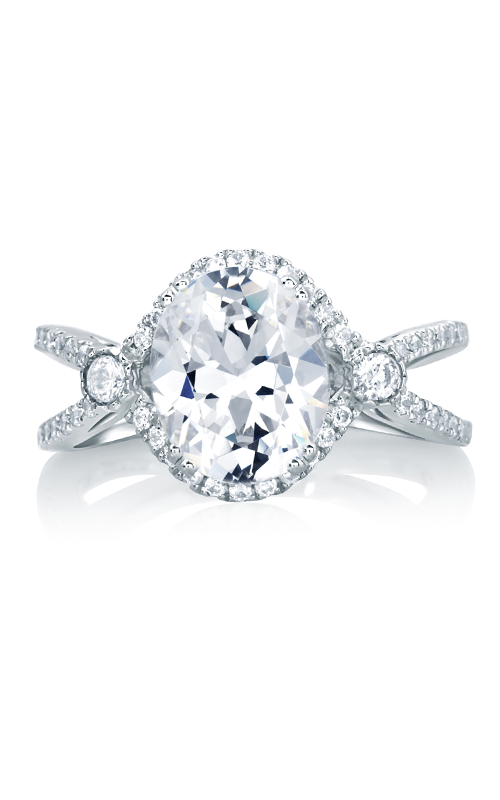 A.Jaffe Fancy Side Stone Engagement Ring MES648-340 product image