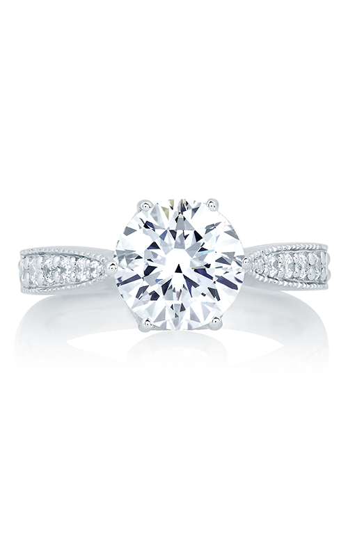 A.Jaffe Fancy Side Stone Engagement Ring MES649-225 product image
