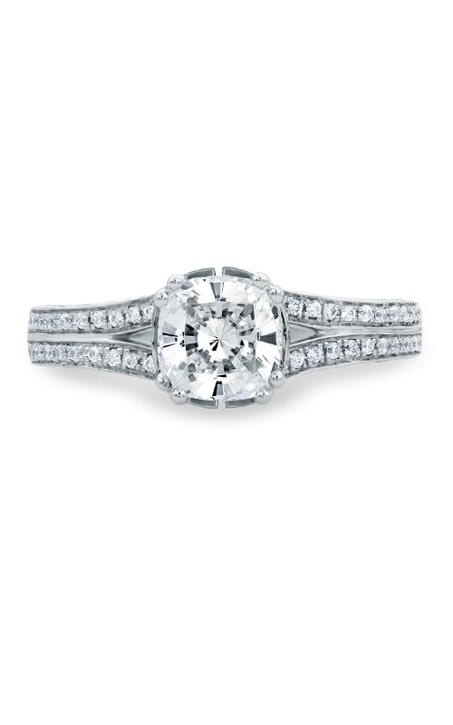 A.Jaffe Fancy Side Stone Engagement Ring MES679-219 product image