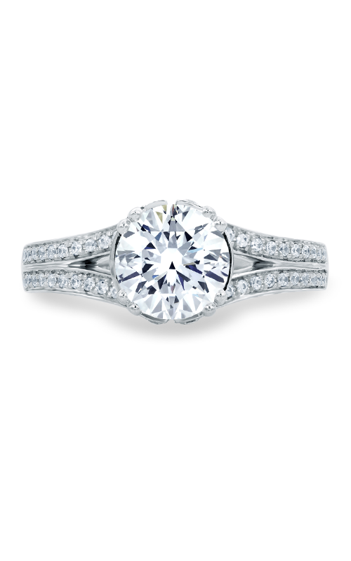 A.Jaffe Fancy Side Stone Engagement Ring MES680-219 product image