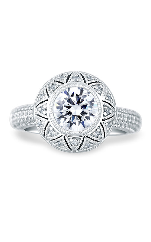 A.Jaffe Halo Engagement Ring MES686-180 product image