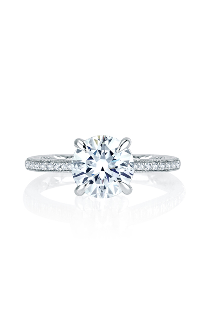 A.Jaffe Art Deco Engagement Ring MES771Q-170 product image