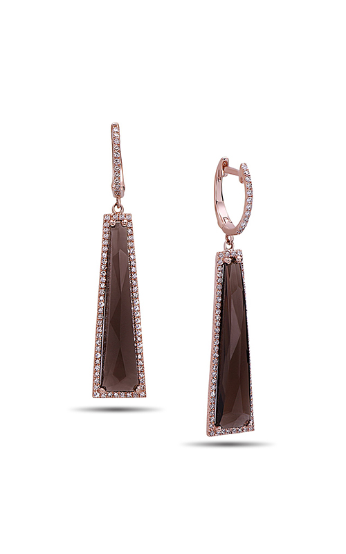 DILAMANI Rock Candy Smoky Quartz & Diamond Earrings AE81020SQ-800R product image