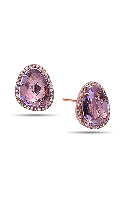 DILAMANI Rock Candy Amethyst & Diamond Stud Earrings AE81620AM-800R product image
