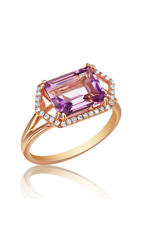 DILAMANI Rock Candy Amethyst & Diamond Ring AR14020AM-800R product image