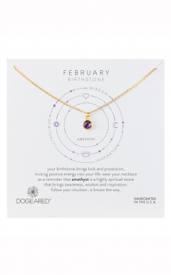 Dogeared February Amethyst Birthstone Necklace 844923037688 product image