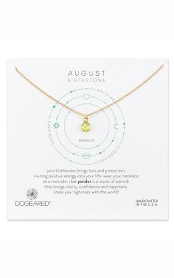Dogeared August Peridot Birthstone Gem Necklace 844923037817 product image