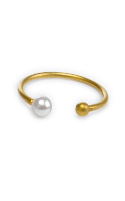Dogeared Ball and Pearl Open Fashion Ring 600126 product image