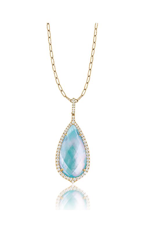 Doves by Doron Paloma St. Baths Blue Necklace P5934TQ product image