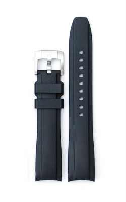 Everest Curved End Rubber Strap With Tang Buckle - Black EH5BLK product image