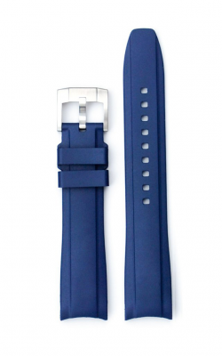 Everest Curved End Rubber Strap With Tang Buckle- Blue EH5BLU product image