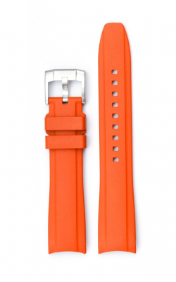 Everest Curved End Rubber Strap With Tang Buckle - Orange EH5ORG product image