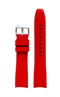 Everest Curved End Rubber Strap With Tang Buckle - Red EH5RED product image