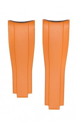 Everest Curved End Rubber Strap For Deployant - 4 Links X 4 Links - Orange EH7ORG44 product image
